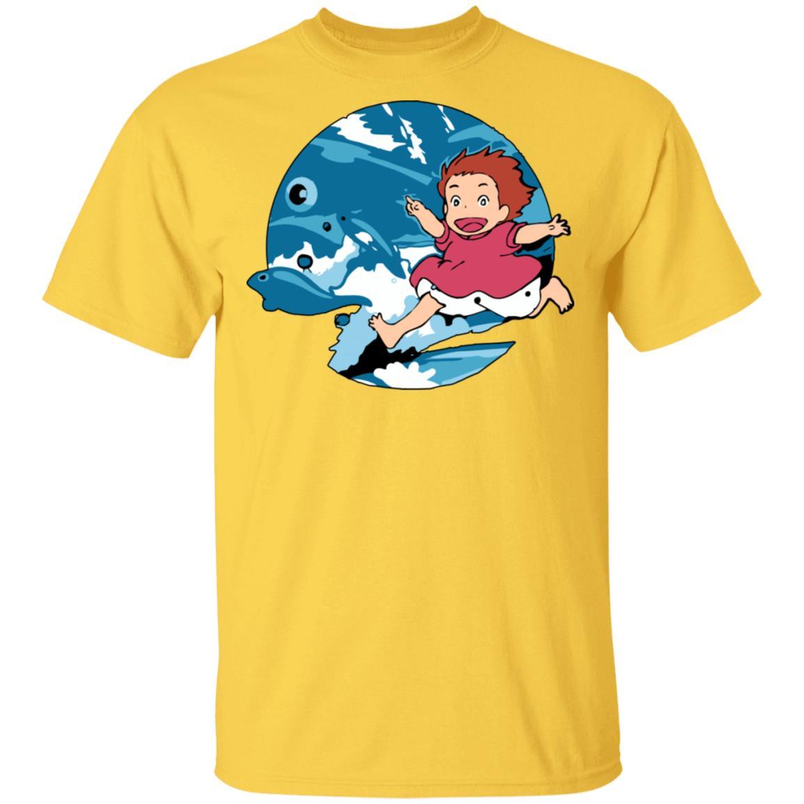 Ghibli Studio Ponyo On The Waves T shirt Unisex