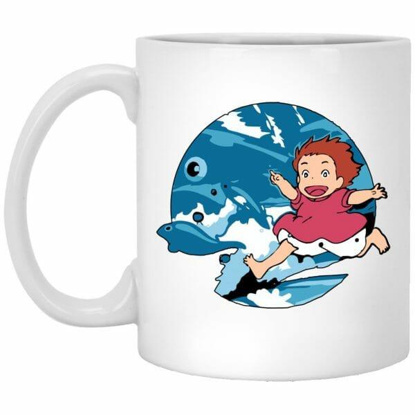 Ghibli Studio Ponyo On The Waves Mug