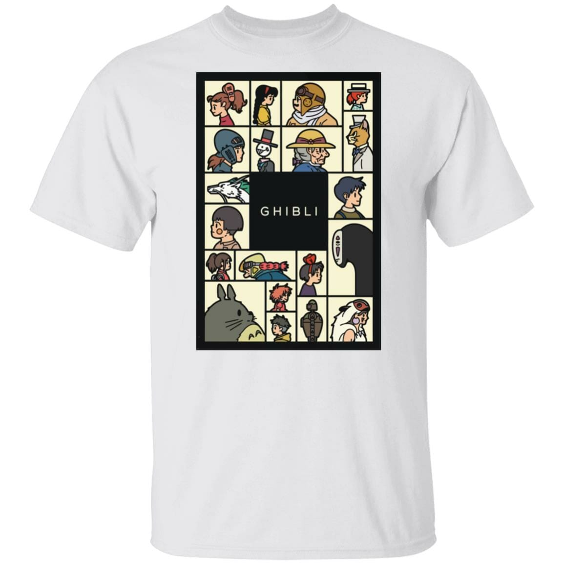 Compilation Characters of Studio Ghibli T shirt Unisex