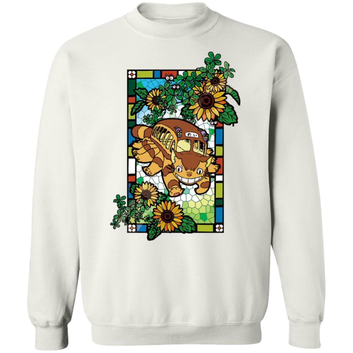 My Neighbor Totoro – Cat Bus Stained Glass Art Sweatshirt