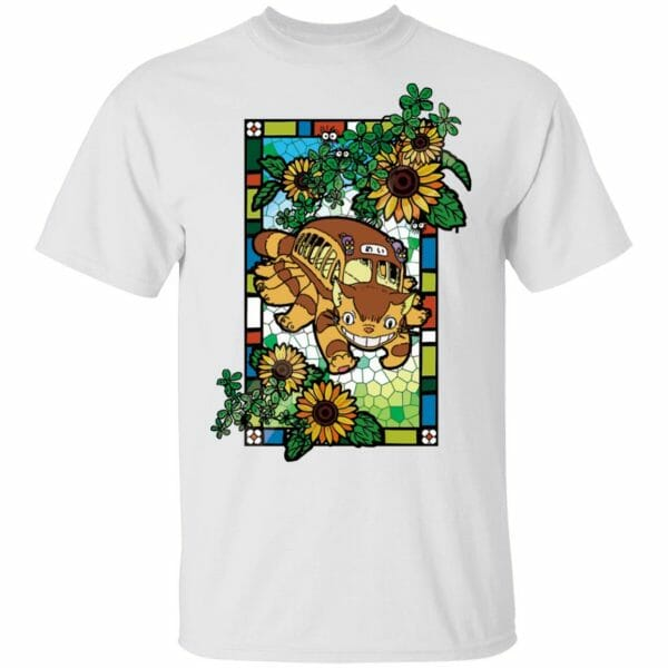 My Neighbor Totoro – Cat Bus Stained Glass Art T Shirt