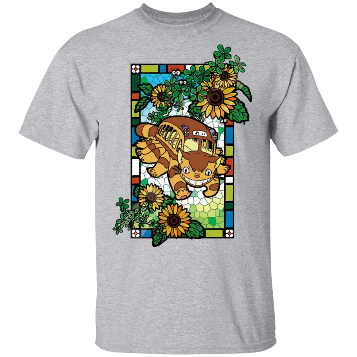 My Neighbor Totoro – Cat Bus Stained Glass Art T Shirt