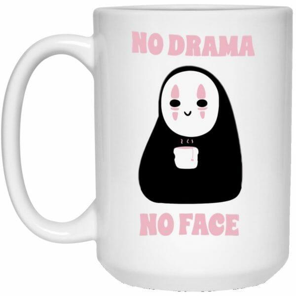 No Drama, No Face Mug