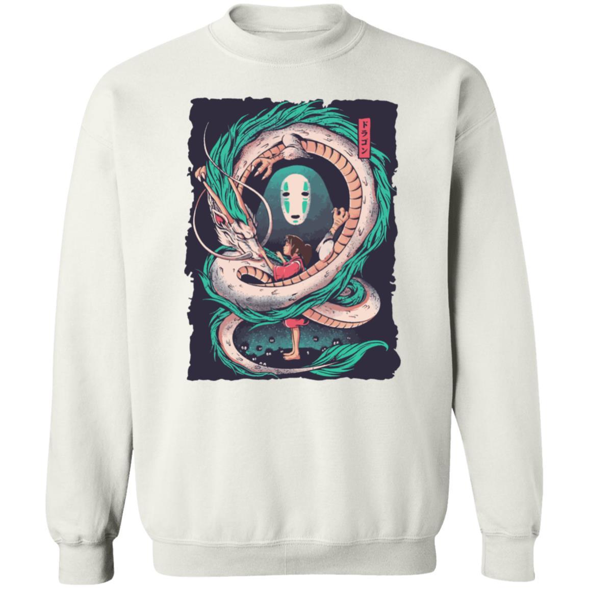 Spirited Away – Haku Dragon with Sen and No Face Sweatshirt
