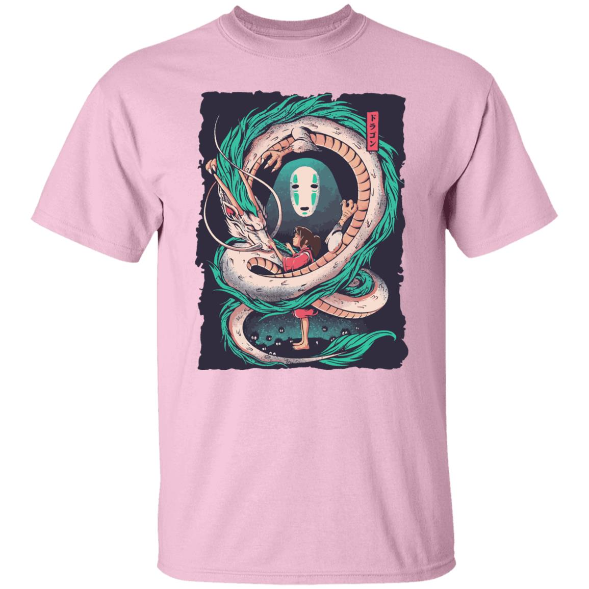 Spirited Away – Haku Dragon with Sen and No Face T Shirt