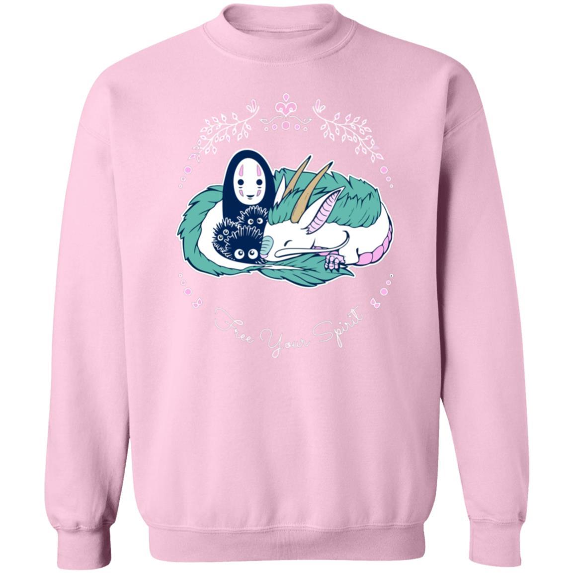 Spirited Away – No Face and Haku Dragon Sweatshirt