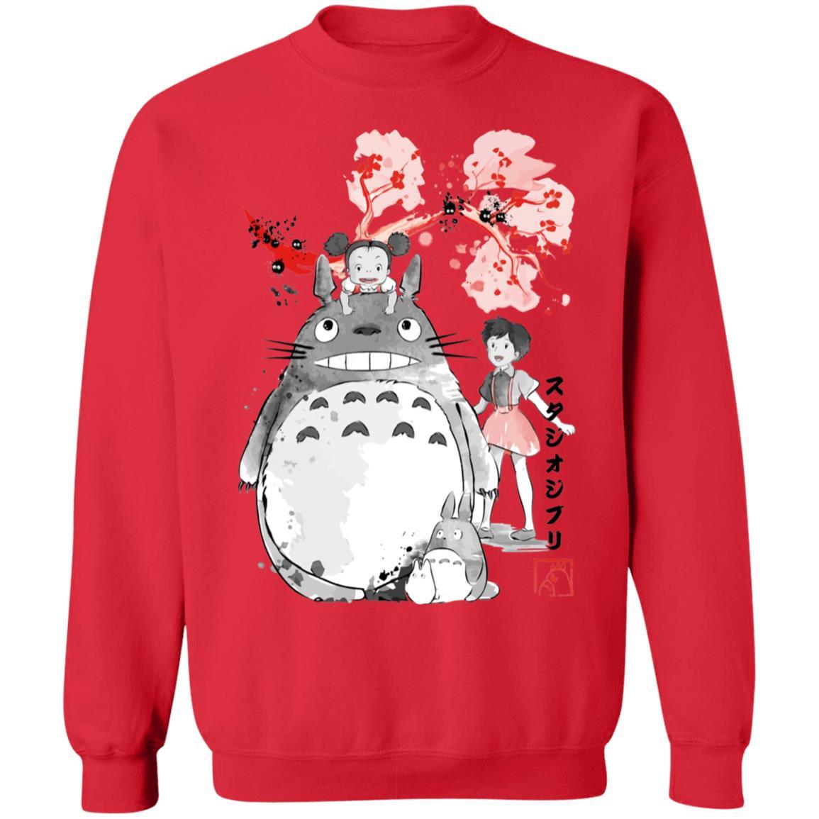 Totoro and the Girls by Sakura Flower Sweatshirt