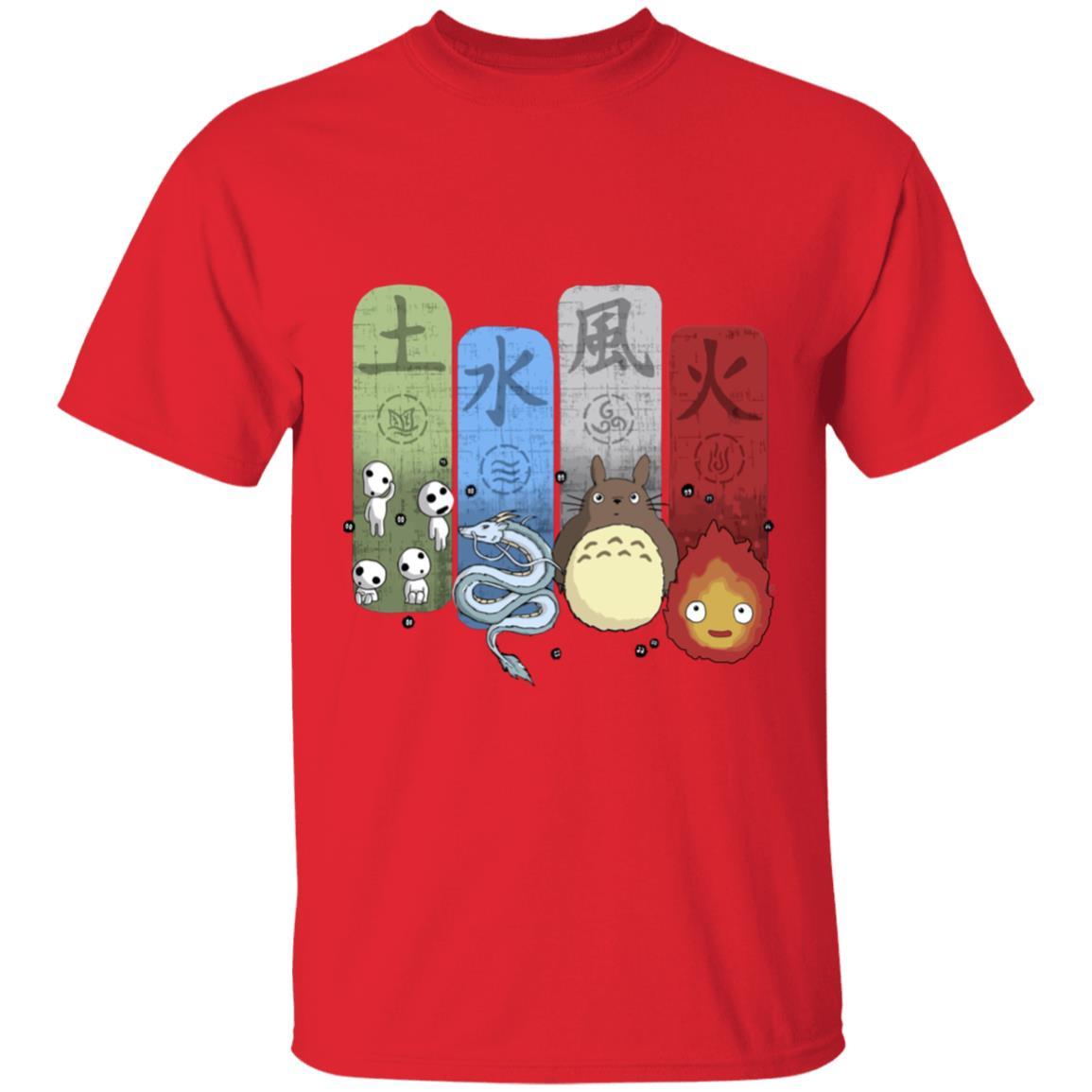 Ghibli Elemental T Shirt Unisex