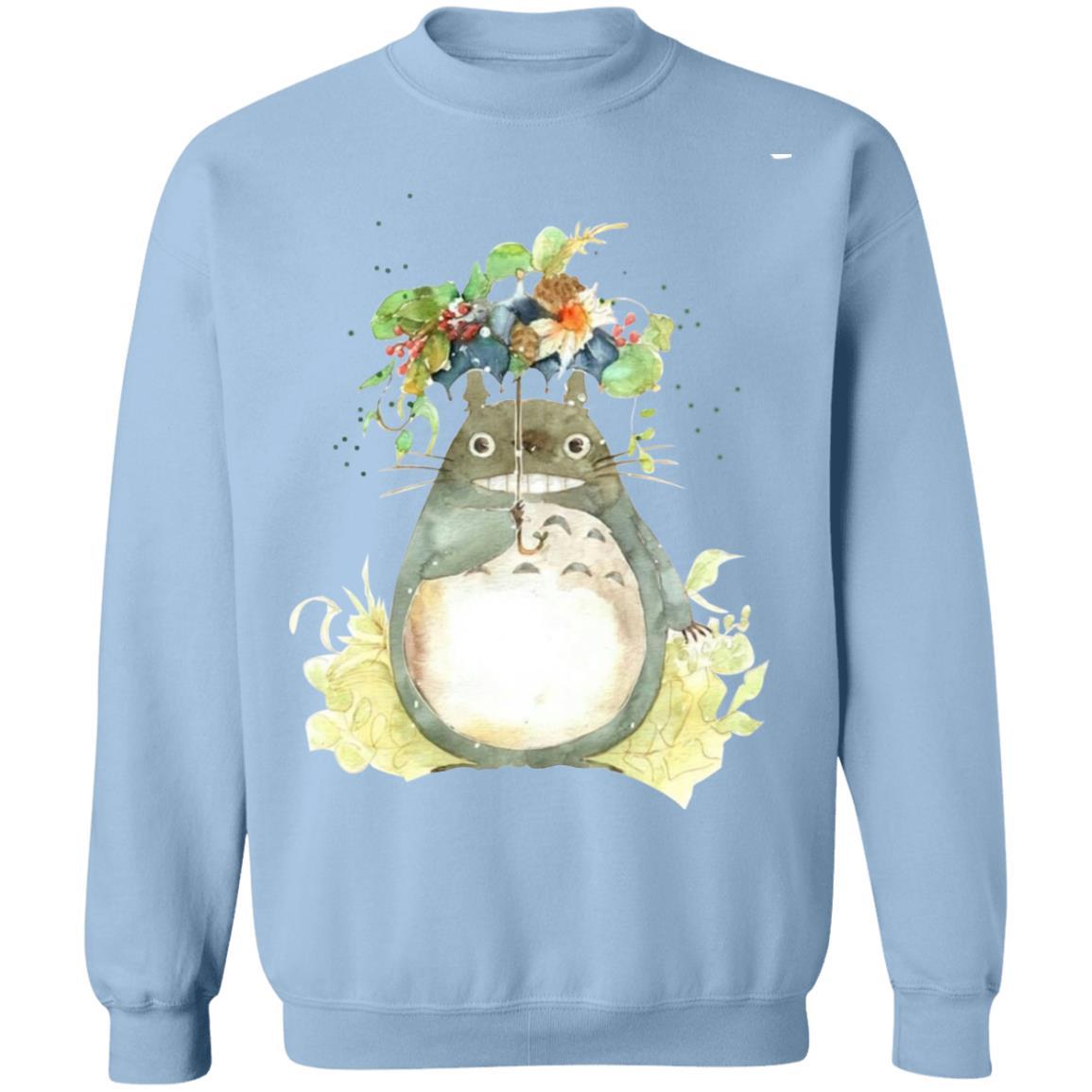 Totoro with Flower Umbrella Sweatshirt