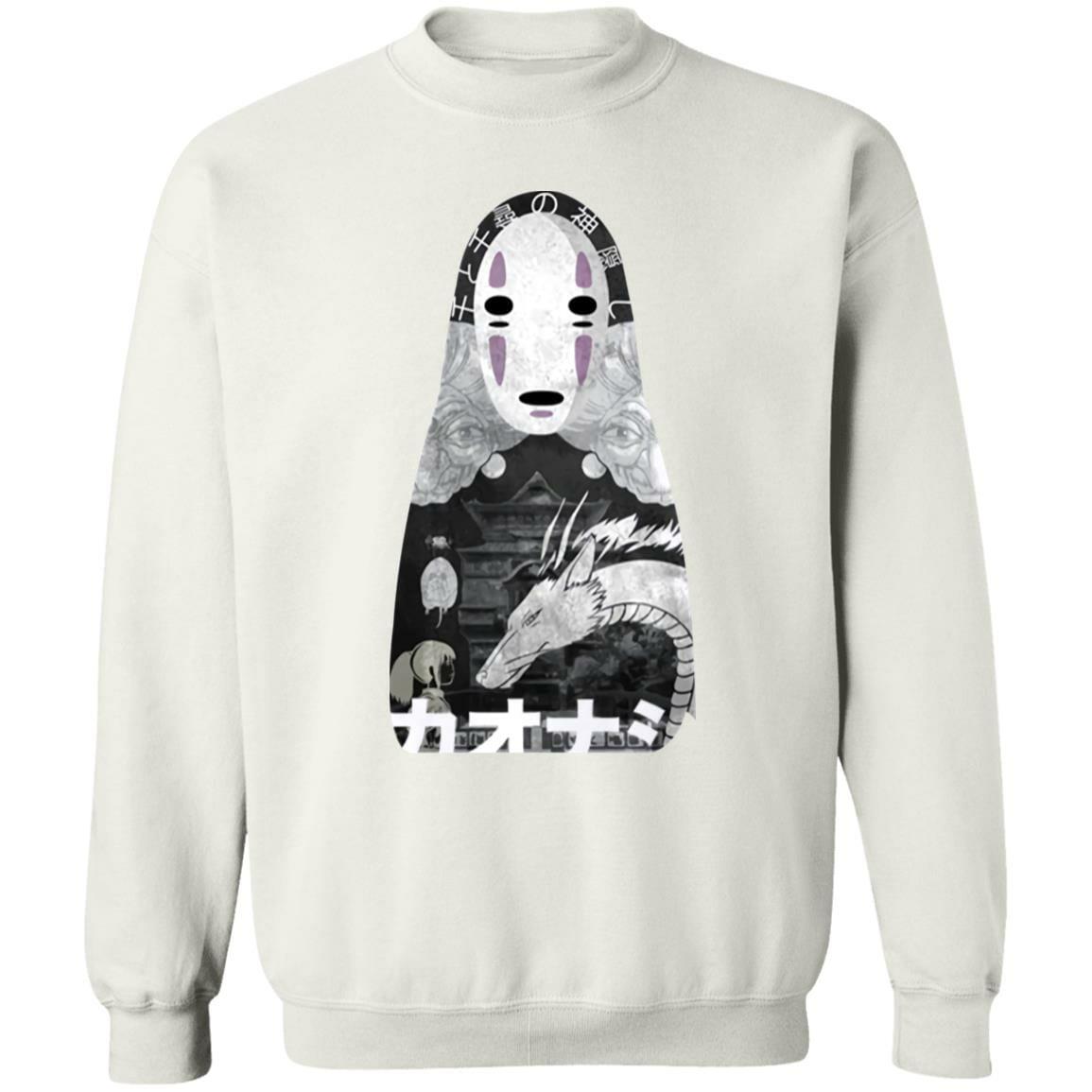 Spirited Away Kaonashi Cutout Black Sweatshirt