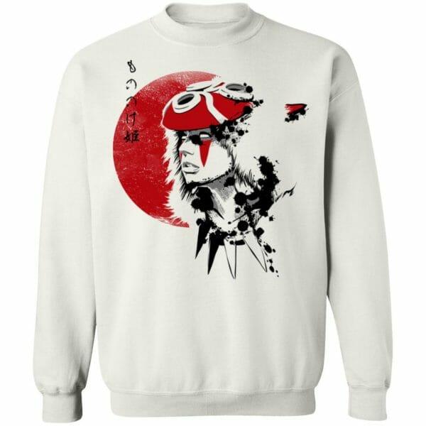 Princess Mononoke and the Red Moon Sweatshirt