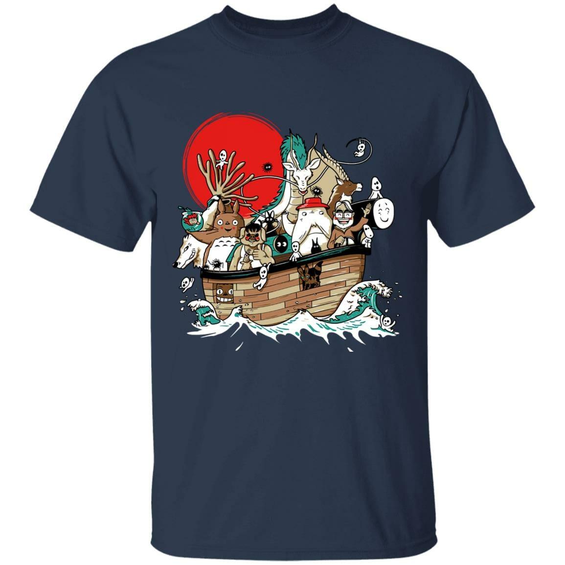 Studio Ghibli Boat T Shirt