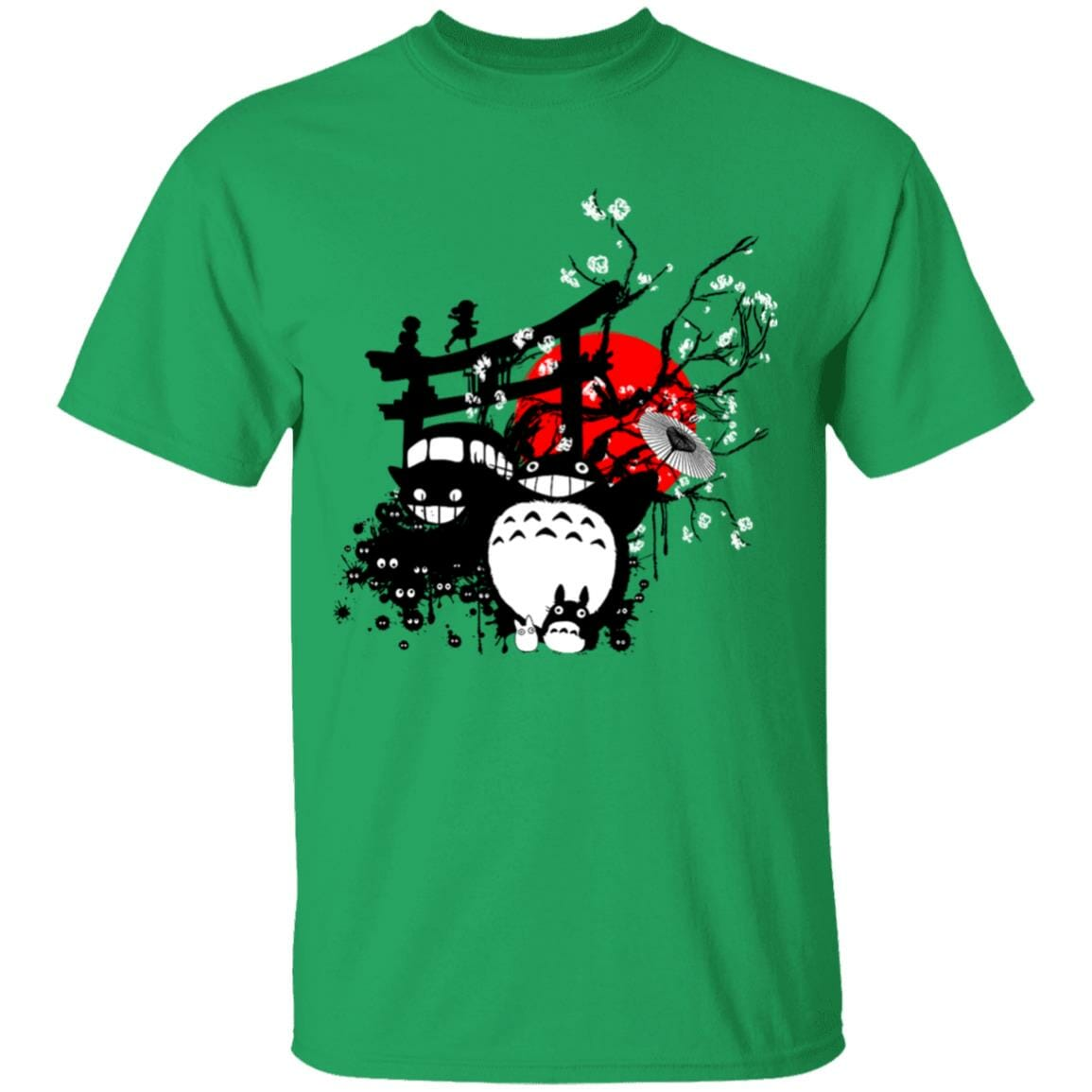 Totoro and Friends by the Red Moon T Shirt