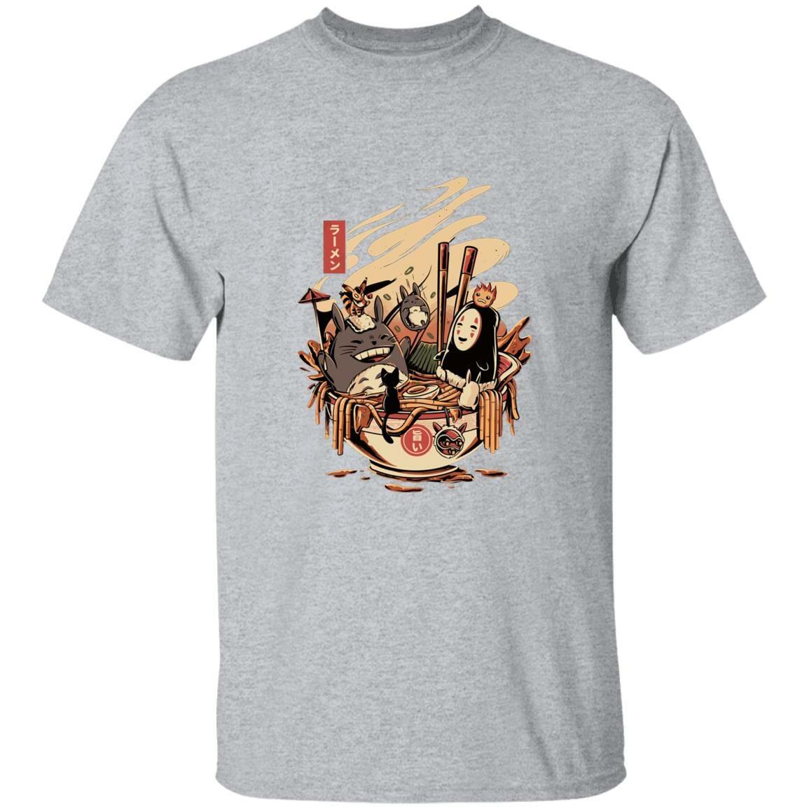 Totoro and No Face Ramen Bath Unisex T Shirt