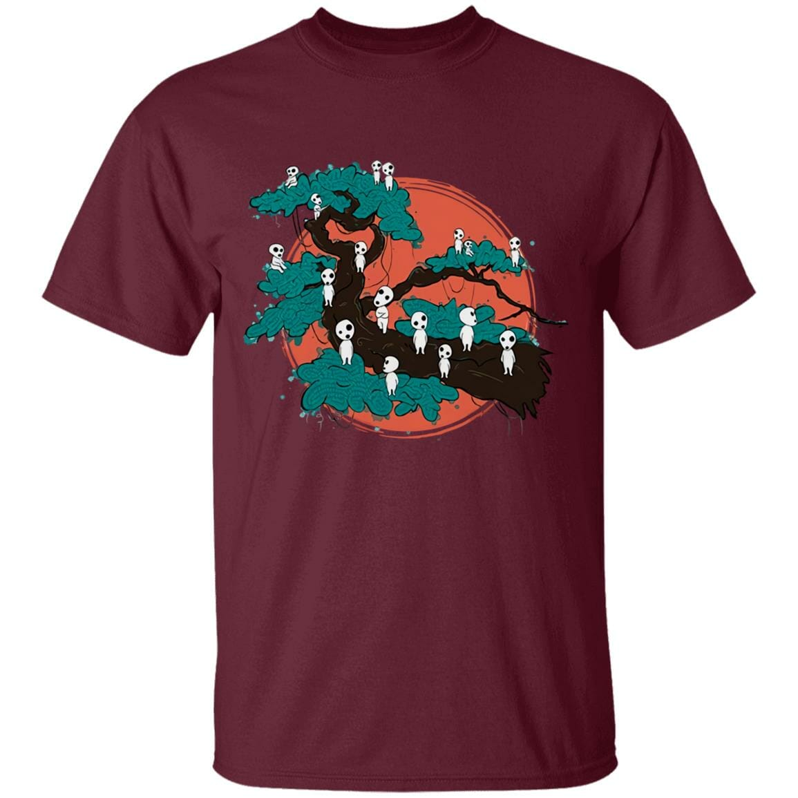 Tree Spirits by the Red Moon T Shirt