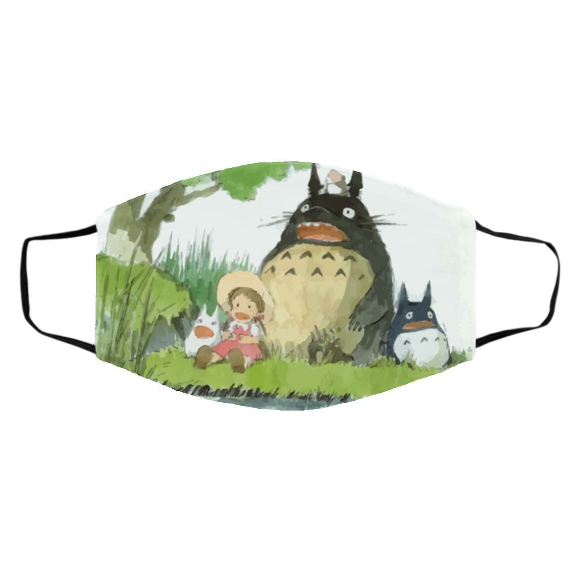 My Neighbor Totoro Picnic Fanart Face Mask