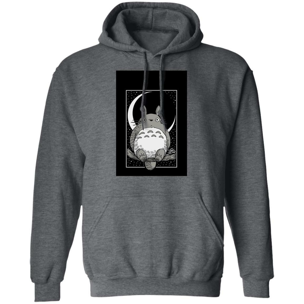 My Neighbor Totoro by the Moon Black & White Hoodie Unisex