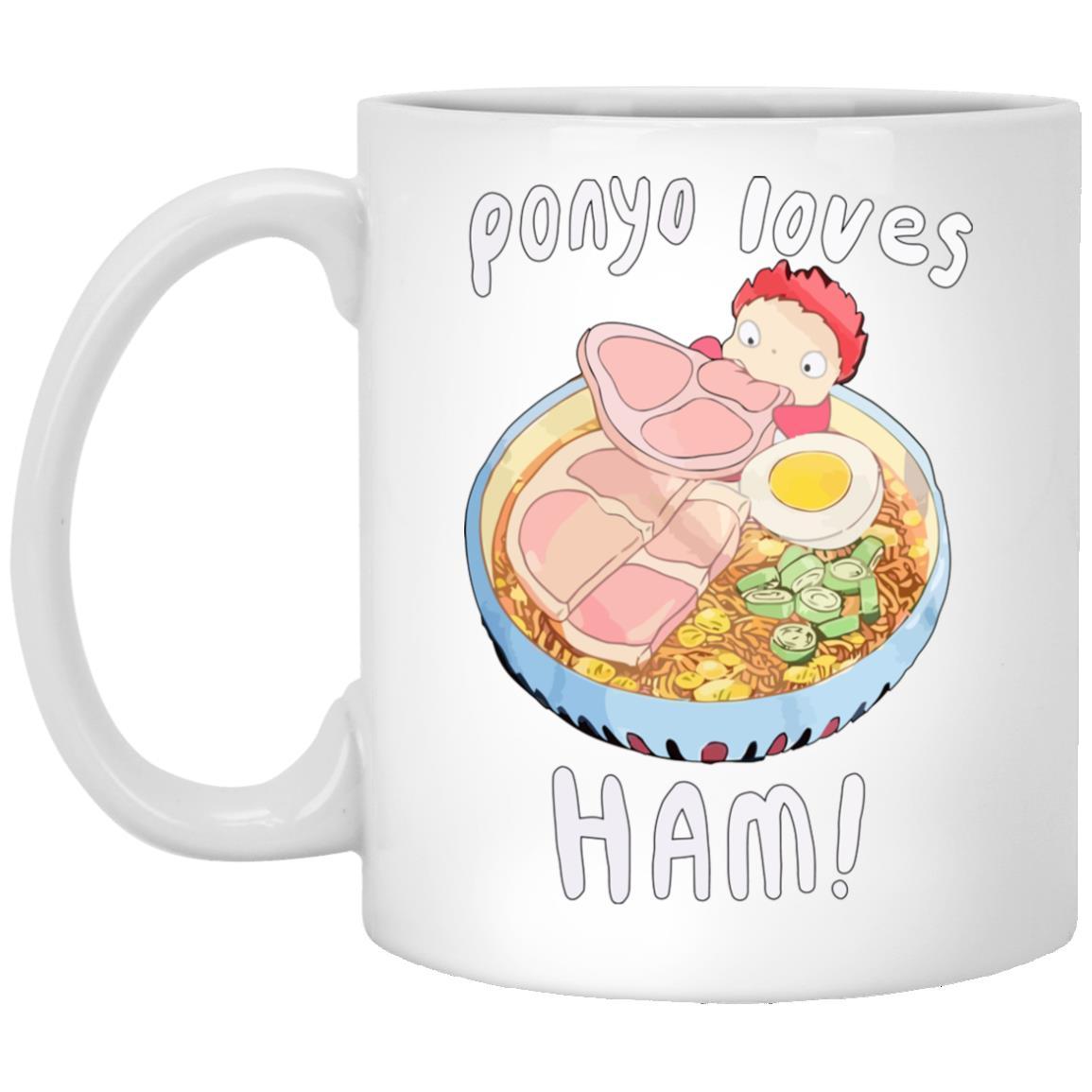 Ponyo Loves Ham Mug