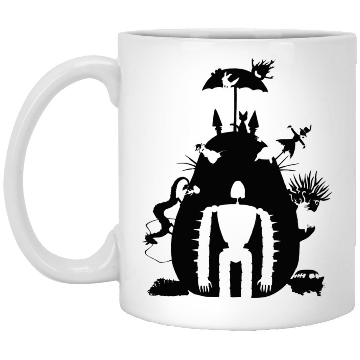 Studio Ghibli Black & White Art Compilation Mug