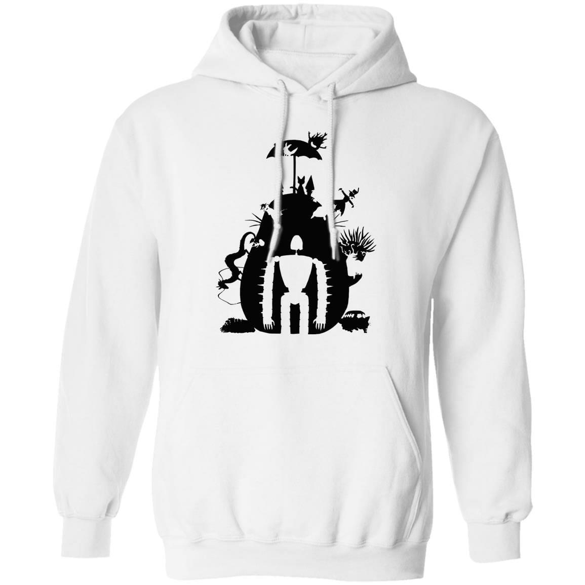 Studio Ghibli Black & White Art Compilation Hoodie Unisex