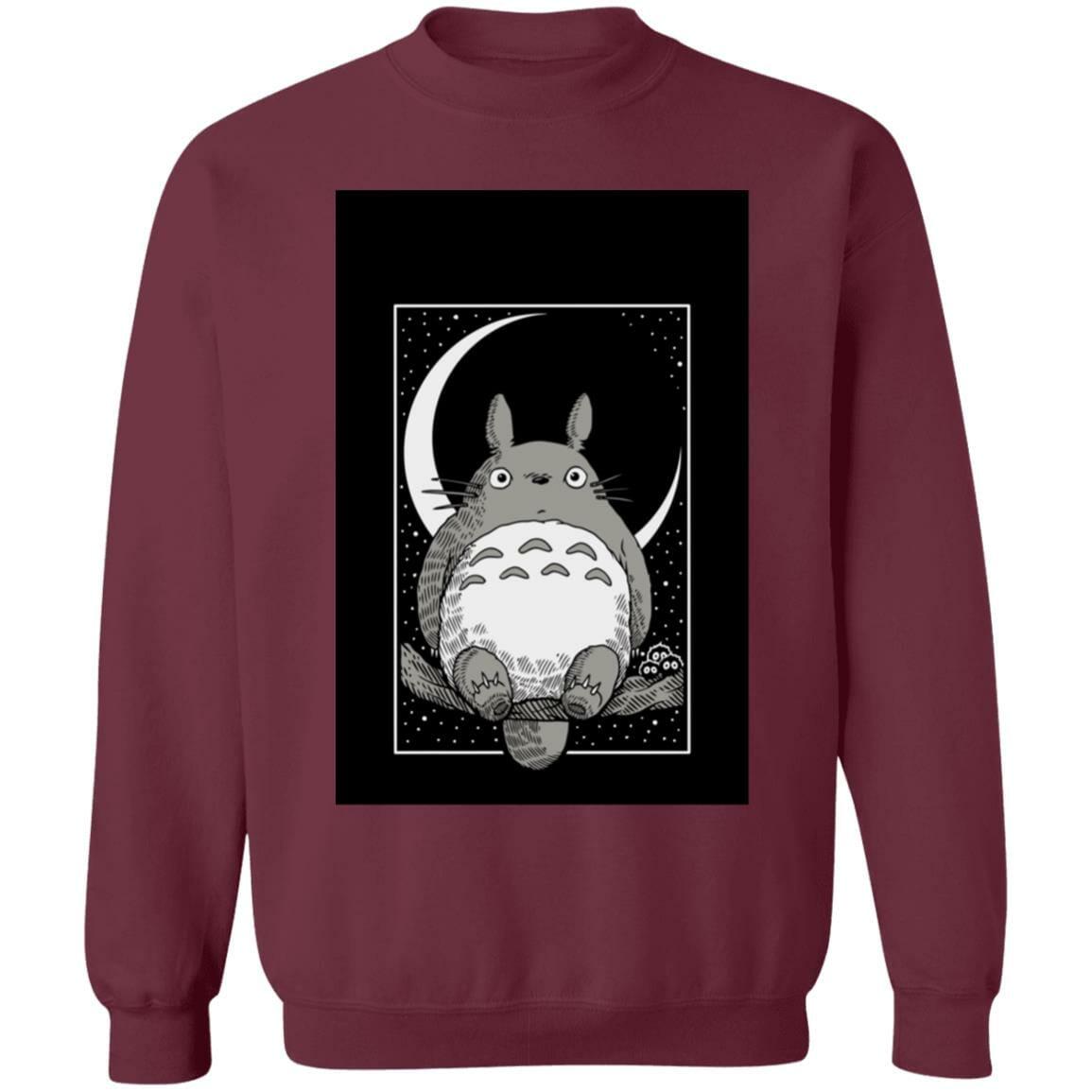 My Neighbor Totoro by the Moon Black & White Sweatshirt Unisex