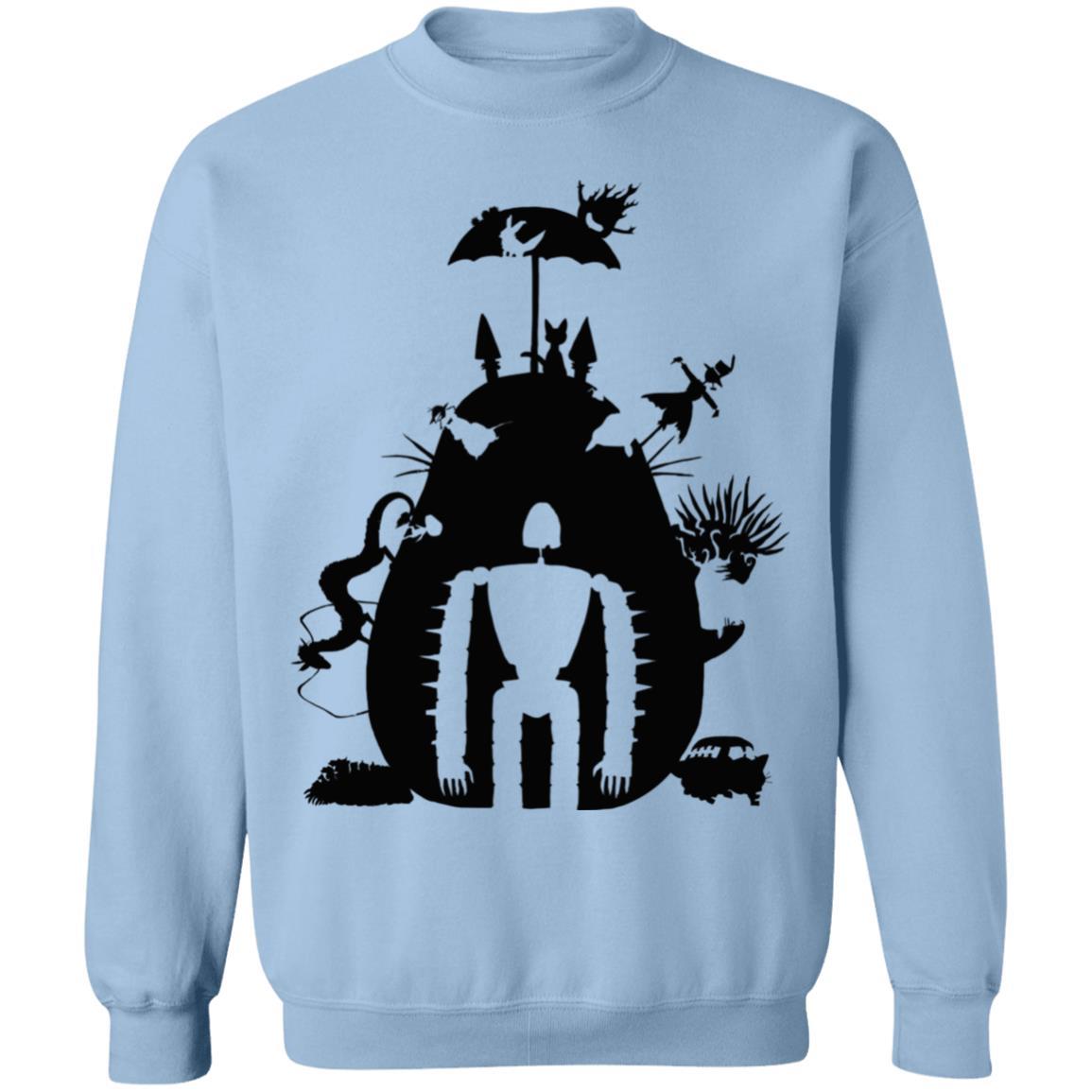 Studio Ghibli Black & White Art Compilation Sweatshirt Unisex