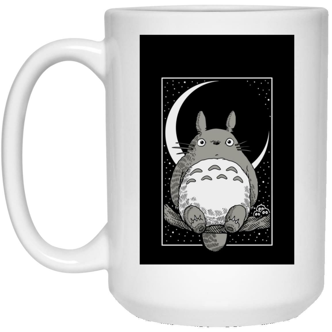 My Neighbor Totoro by the Moon Black & White Mug