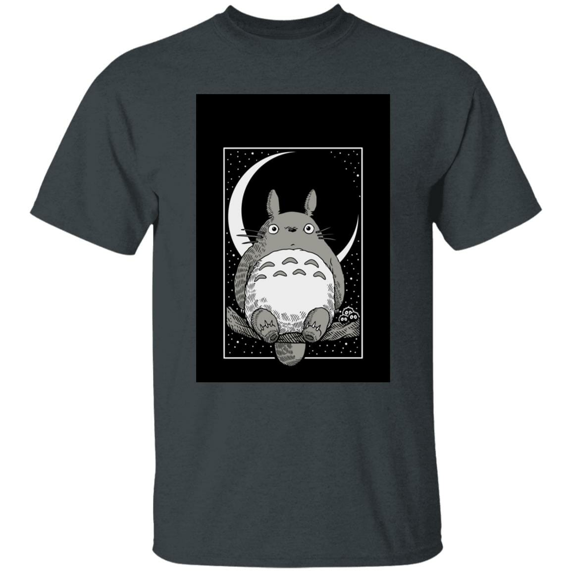 My Neighbor Totoro by the Moon Black & White T Shirt Unisex