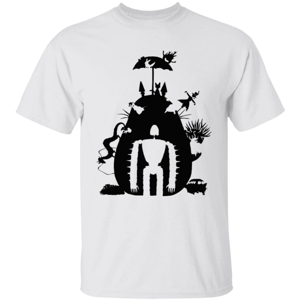 Studio Ghibli Black & White Art Compilation T Shirt Unisex