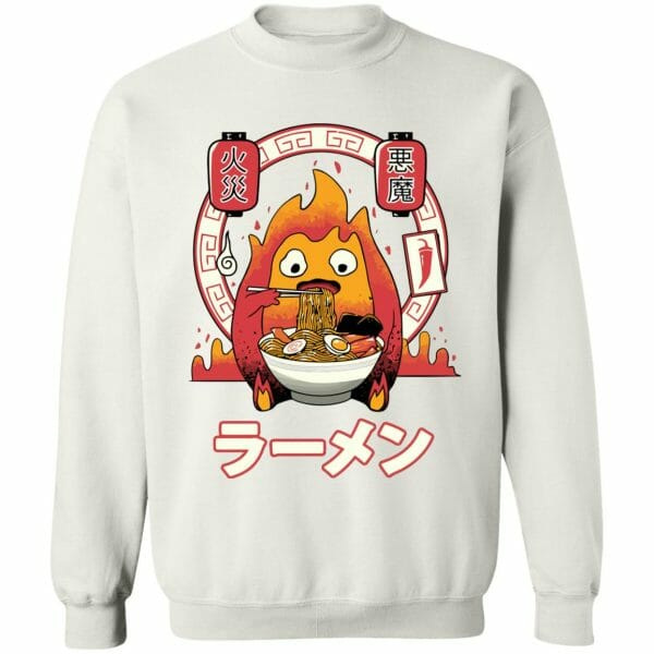 Howl's Moving Castle – Calcifer Loves Ramen Sweatshirt