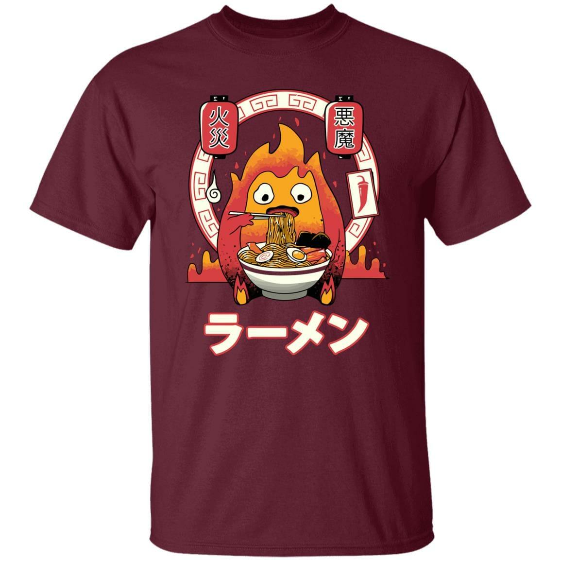 Howl's Moving Castle – Calcifer Loves Ramen T Shirt
