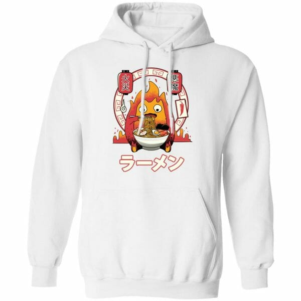 Howl's Moving Castle – Calcifer Loves Ramen Hoodie