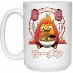 Howl's Moving Castle - Calcifer Loves Ramen Mug 15Oz