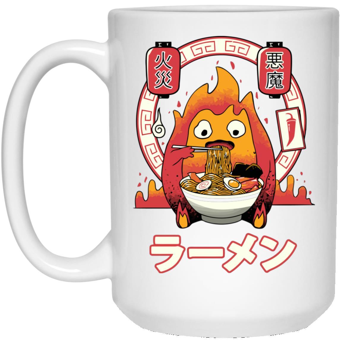 Howl's Moving Castle – Calcifer Loves Ramen Mug