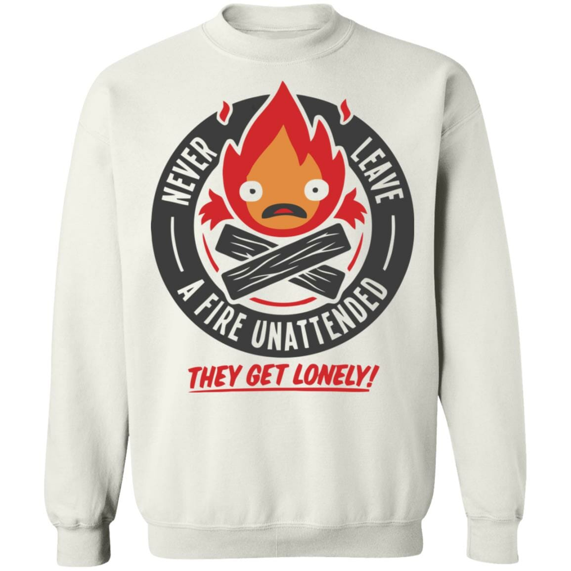 Howl's Moving Castle – Never Leave a Fire Sweatshirt