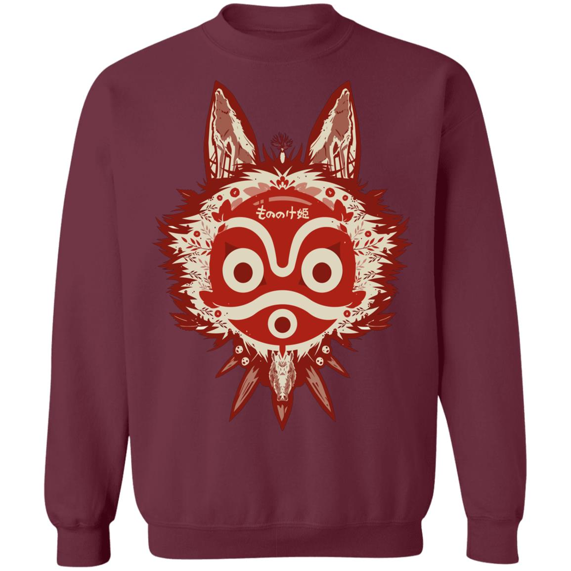 Princess Mononoke Mask Sweatshirt Unisex