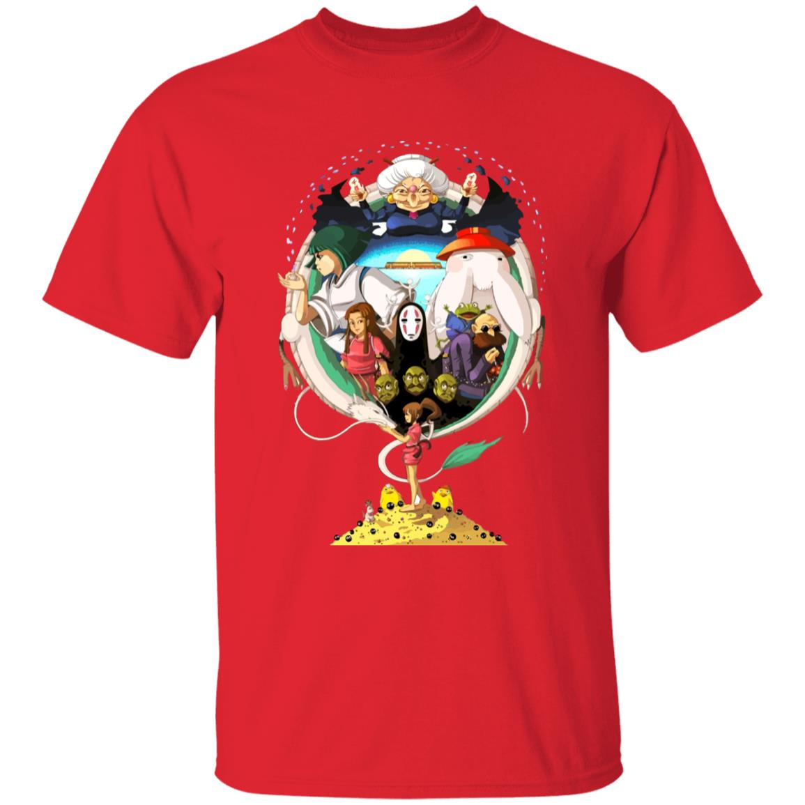 Spirited Away Characters Compilation T Shirt Unisex
