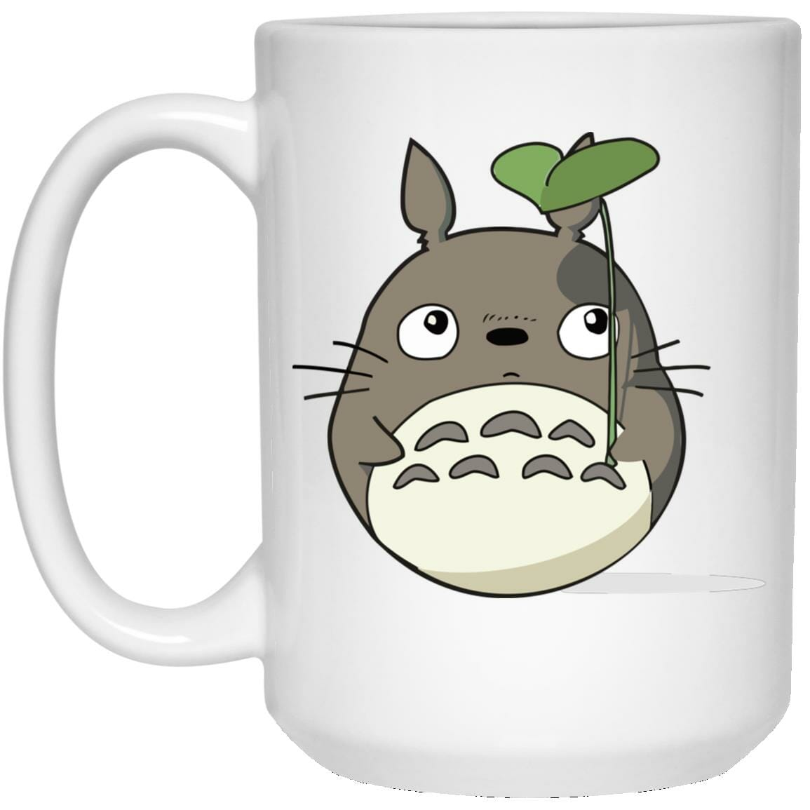 Totoro and the Leaf Umbrella Mug