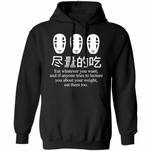 No Face Kaonashi Eat Whatever You Want Sweatshirt