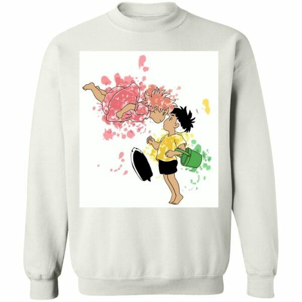 Ponyo and Sosuke Colorful Hoodie Unisex