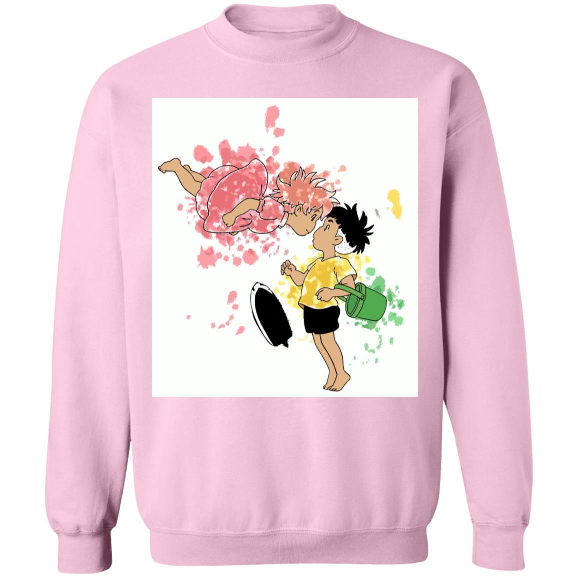 Ponyo and Sosuke Colorful Sweatshirt Unisex