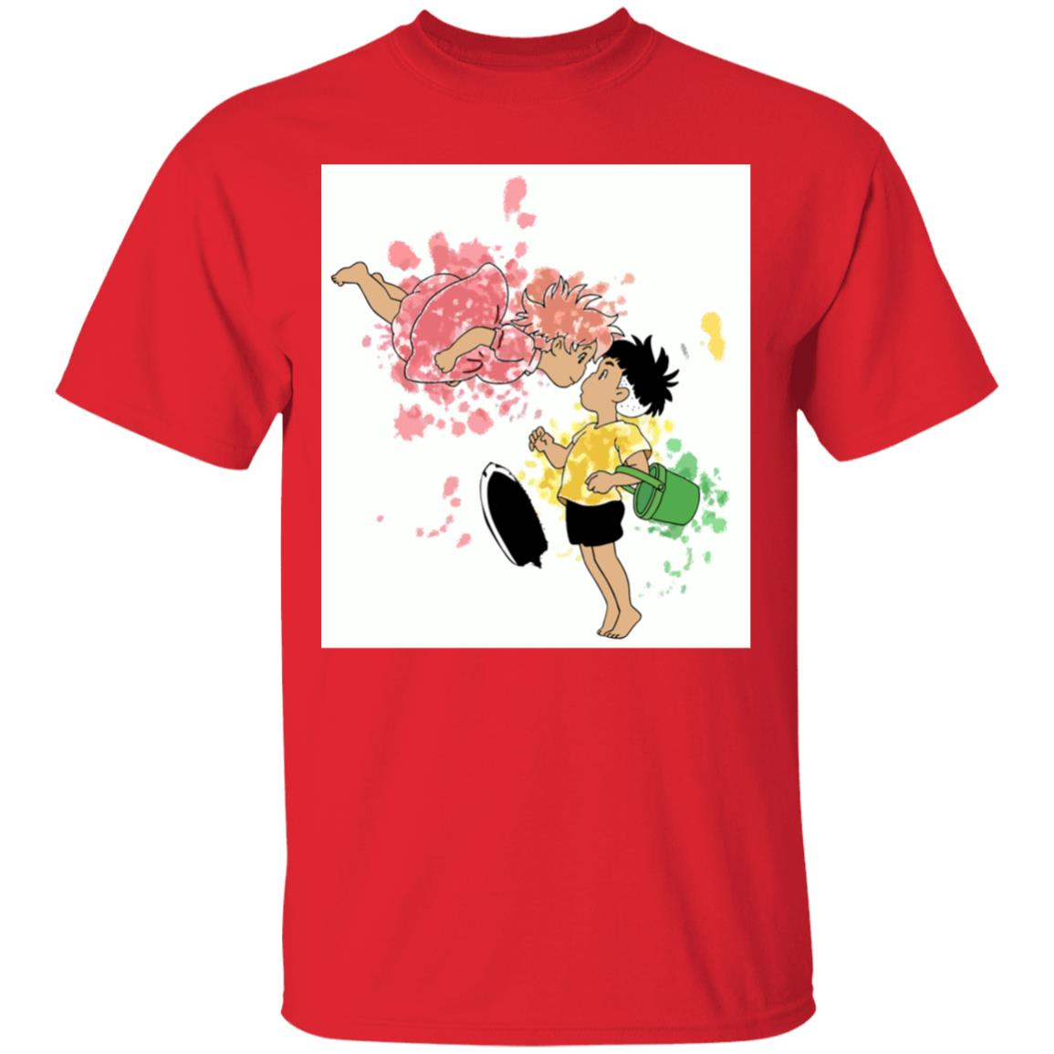 Ponyo and Sosuke Colorful  T Shirt Unisex