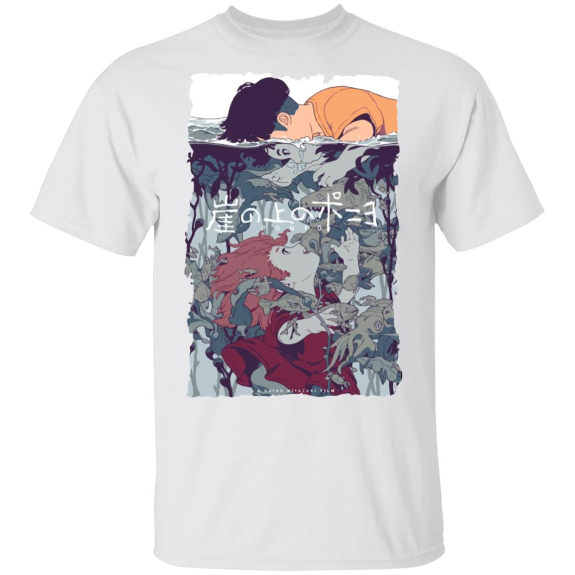 Ponyo and Sosuke Creative Art T Shirt Unisex