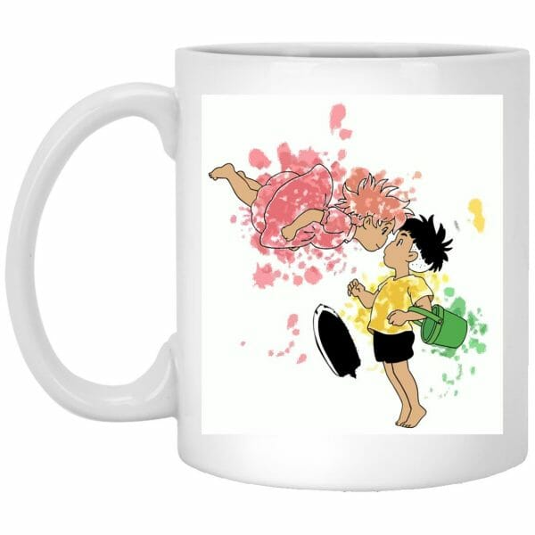 Ponyo and Sosuke Colorful Mug
