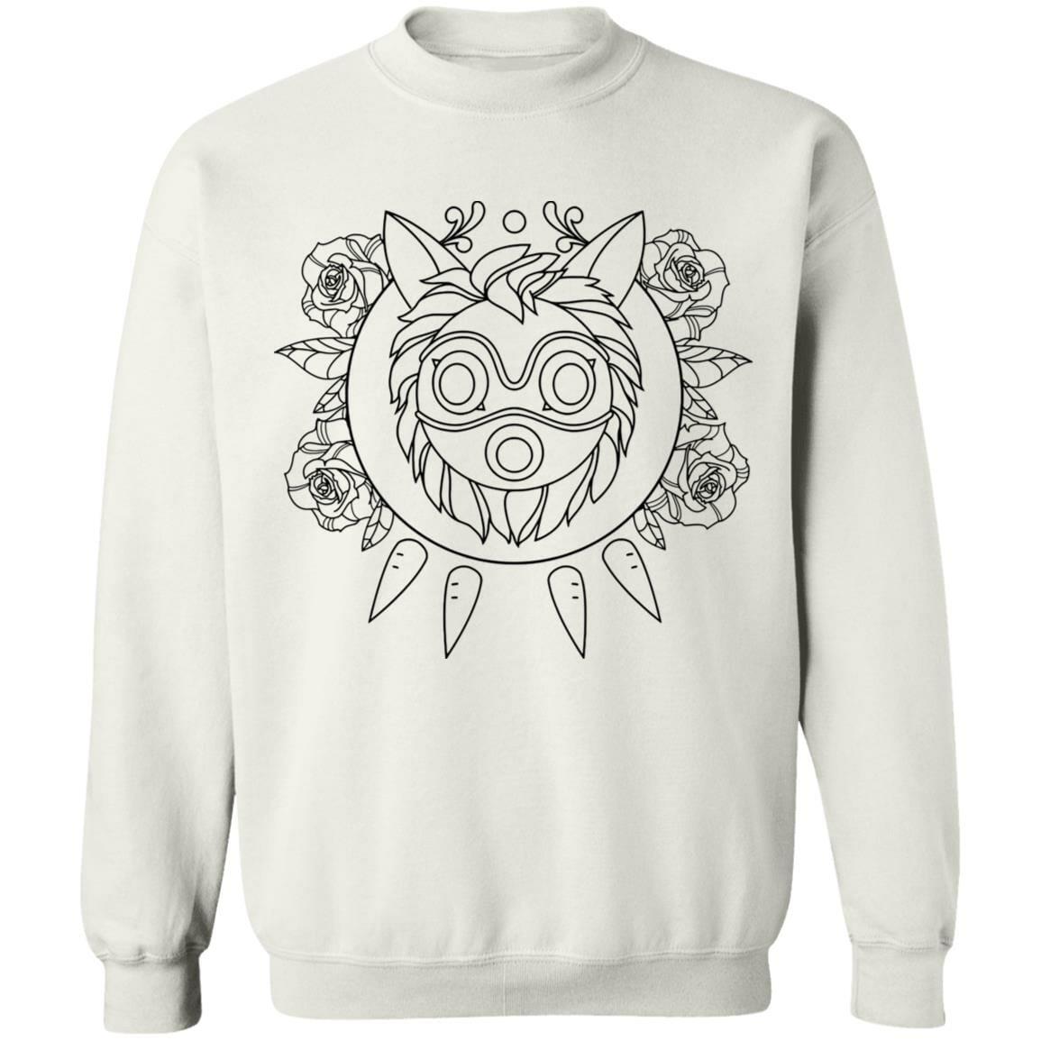 Princess Mononoke Mask in Black and White Sweatshirt Unisex