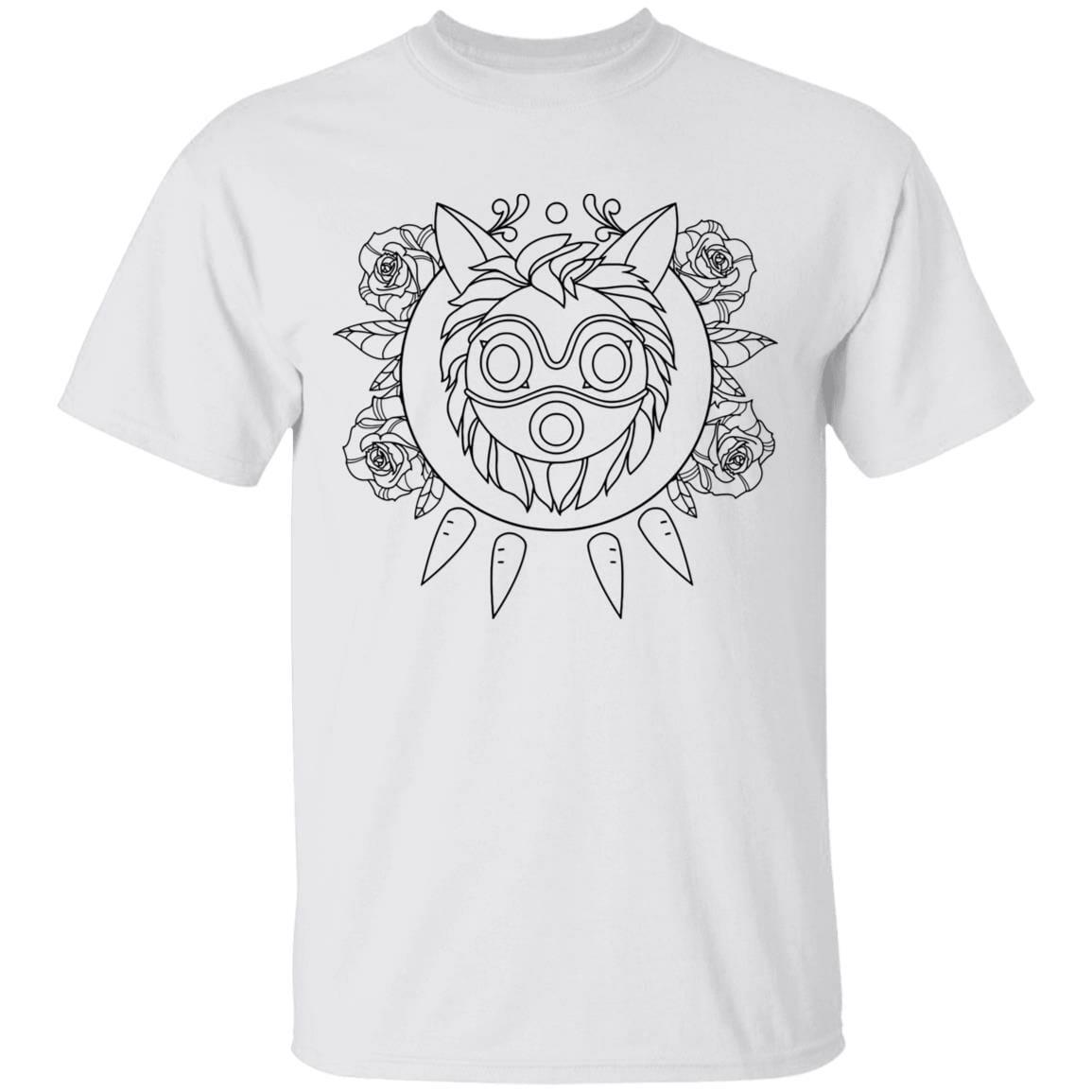 Princess Mononoke Mask in Black and White T Shirt Unisex