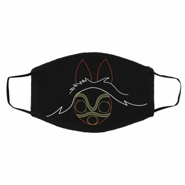 Princess Mononoke Minimalist Face Mask