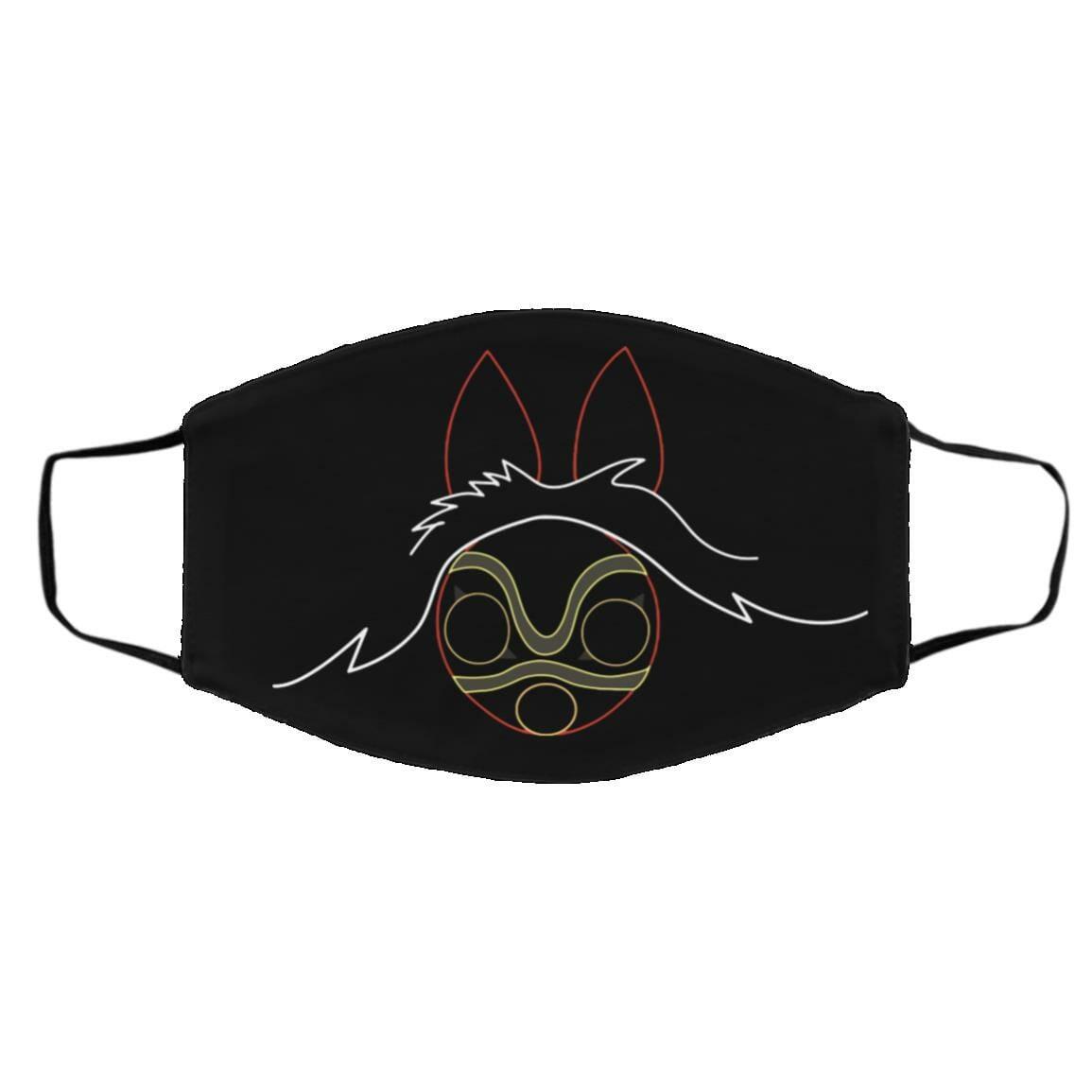 Princess Mononoke Minimalist Face Mask