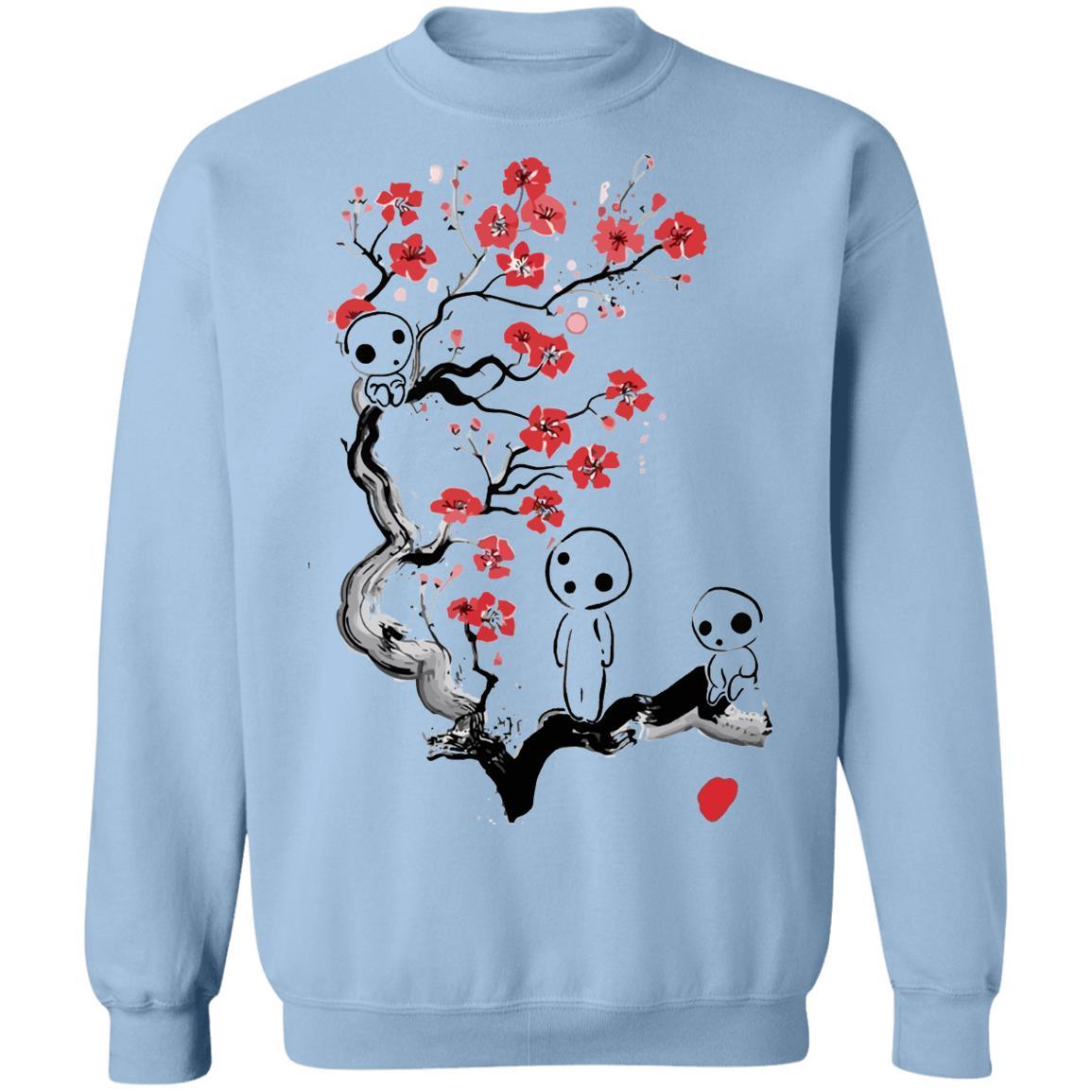 Princess Mononoke – Tree Spirits on the Cherry Blossom Sweatshirt Unisex