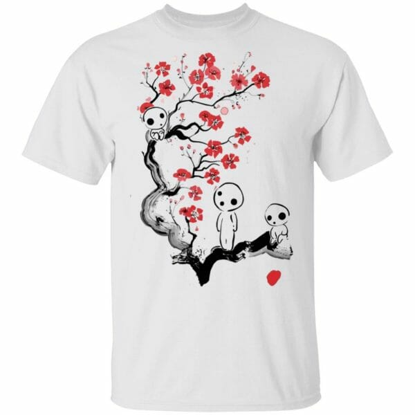 Princess Mononoke – Tree Spirits on the Cherry Blossom T Shirt Unisex